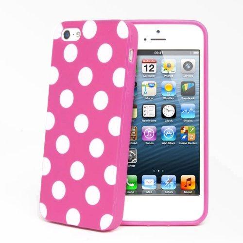 Castho-Polka-Dot-Custodia-in-Silicone-en-TPU-Cover-per-Apple-iPhone-5C ...